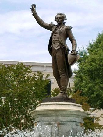 Statue of Lafayette in downtown LaGrange GA
